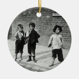 Street urchins in Lambeth (b/w photo) Christmas Ornament