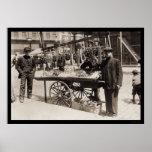 Street Vendor Italian Feast 1908 Posters