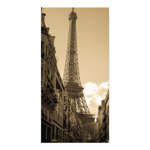 Street View of the Eiffel Tower photo card