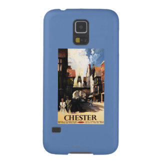 Street View with Couple & Tower Clock Rail Case For Galaxy S5