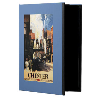 Street View with Couple & Tower Clock Rail iPad Air Cover