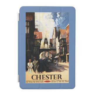Street View with Couple & Tower Clock Rail iPad Mini Cover