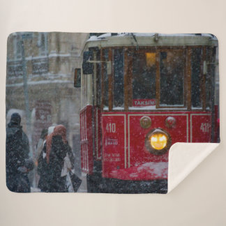 STREETCAR in the SNOW Sherpa Blanket
