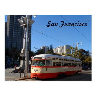 Streetcar- San Francisco Postcard
