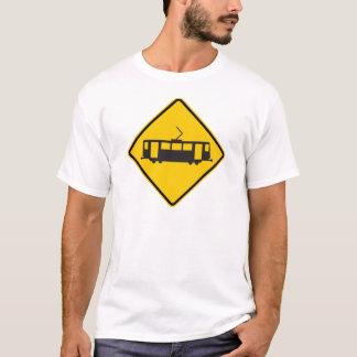 Streetcar Warning Highway Sign T-Shirt