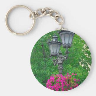 Streetlamp Basic Round Button Key Ring