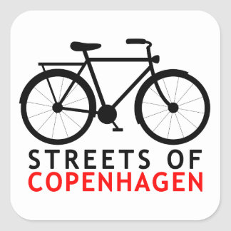 Streets of Copenhagen Square Sticker