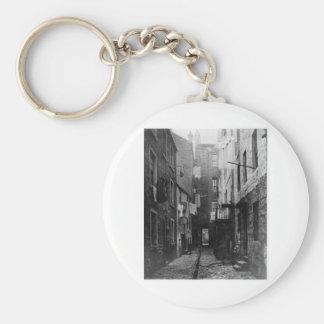 Streets of Glasgow Scotland 1868 Basic Round Button Key Ring