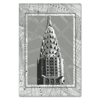 Streets of New York with Empire State Building Tissue Paper