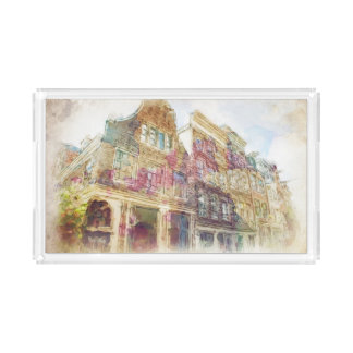 Streets of Old Amsterdam Acrylic Tray