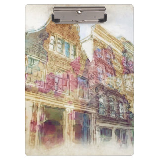 Streets of Old Amsterdam Clipboard