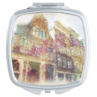 Streets of Old Amsterdam Compact Mirrors