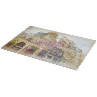 Streets of Old Amsterdam Cutting Board