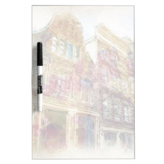 Streets of Old Amsterdam Dry Erase Board