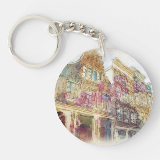 Streets of Old Amsterdam Key Ring
