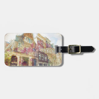 Streets of Old Amsterdam Luggage Tag