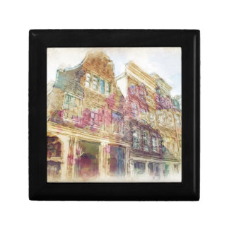 Streets of Old Amsterdam Small Square Gift Box