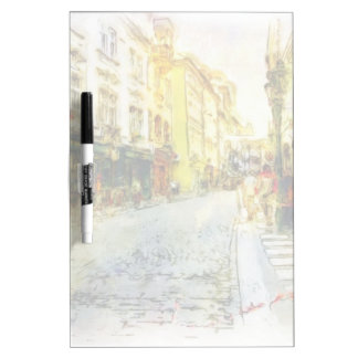 Streets of Old Prague watercolor Dry Erase Board