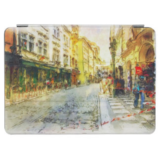 Streets of Old Prague watercolor iPad Air Cover