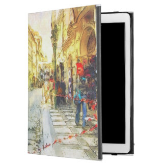 "Streets of Old Prague watercolor iPad Pro 12.9"" Case"