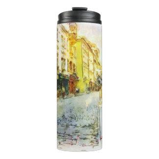 Streets of Old Prague watercolor Thermal Tumbler
