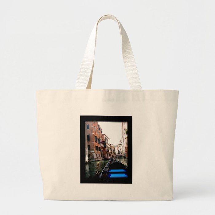 Streets of Venice Large Tote Bag