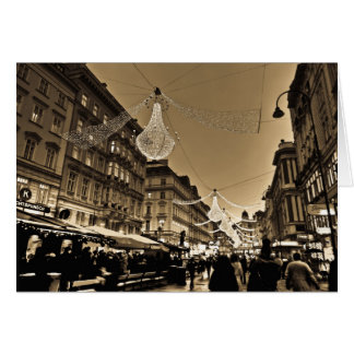 Streets of Vienna at Christmas Holiday Card