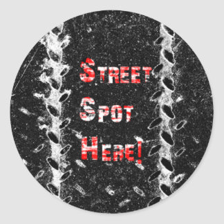 StreetSpotHere Round Sticker