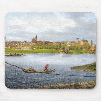 Strehla by Carl Wilhelm Arldt 1840 Mouse Pad
