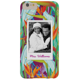 Strelitzia Pattern | Add Your Photo & Name Barely There iPhone 6 Plus Case