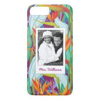 Strelitzia Pattern | Add Your Photo & Name iPhone 8 Plus/7 Plus Case