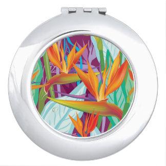 Strelitzia Pattern Vanity Mirror