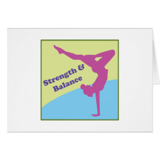 Strength & Balance Greeting Card