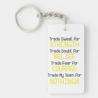 Strength, Belief, Courage, Team Key Ring
