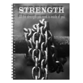 STRENGTH - Chain - Men & Gender Neutral-Spiral Notebooks