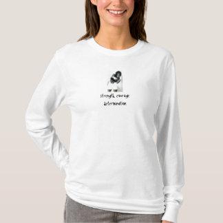 Strength. Courage. Determination. Ladies Hoodie. T-Shirt