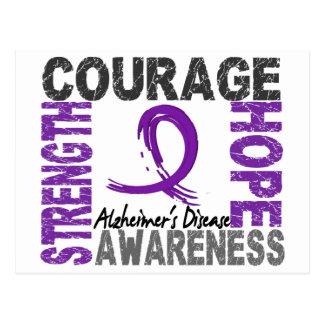 Strength Courage Hope Alzheimer's Disease Postcard