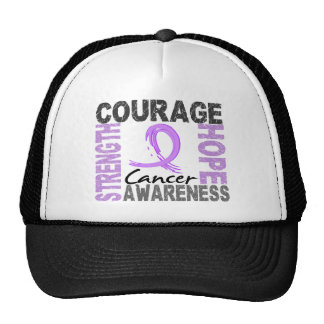 Strength Courage Hope Cancer Cap