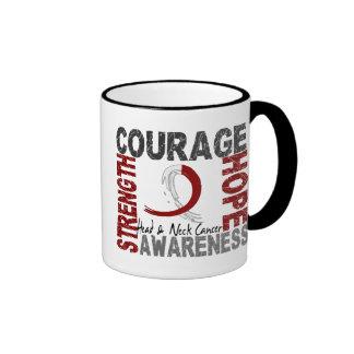 Strength Courage Hope Head Neck Cancer Mugs
