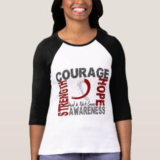 Strength Courage Hope Head Neck Cancer Tee Shirt