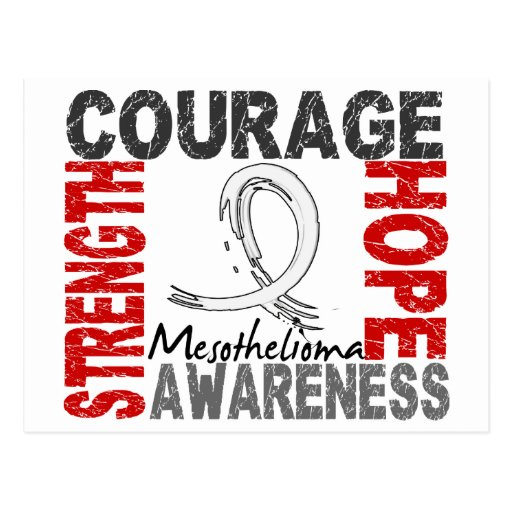 Strength Courage Hope Mesothelioma Postcards
