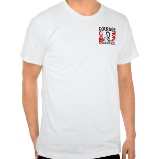 Strength Courage Hope Skin Cancer T-shirts