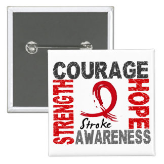 Strength Courage Hope Stroke 15 Cm Square Badge