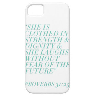 Strength & Dignity (White) iPhone 5 Cases