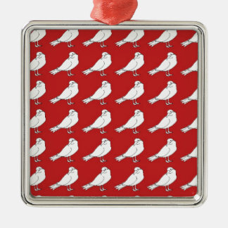 Strength In Red Numbers Christmas Ornament