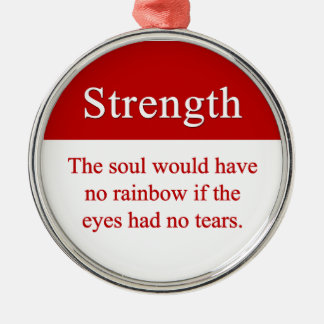 Strength leads to triumph christmas ornament