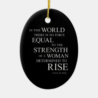 Strength Of Determined Woman Inspirational Quote B Christmas Ornament