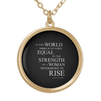 Strength Of Determined Woman Inspirational Quote B Personalized Necklace