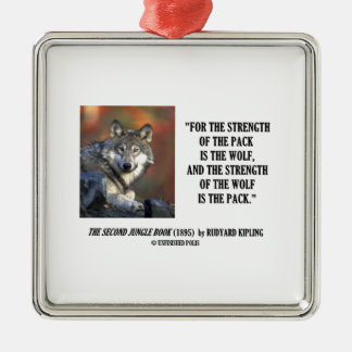 Strength Of The Pack Is The Wolf Kipling Quote Christmas Ornament