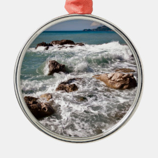 Strength of the sea - island Sicily Silver-Colored Round Decoration